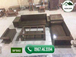 Bộ ghế sofa hộp ngăn kéo gỗ sồi Nga SFS02