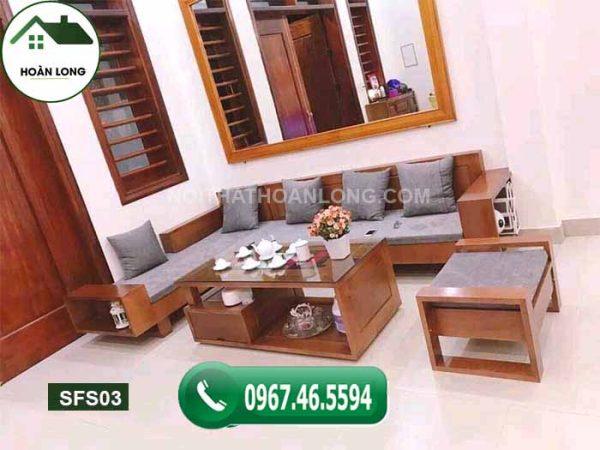 Bộ ghế sofa 2 tay gỗ sồi Nga SFS03