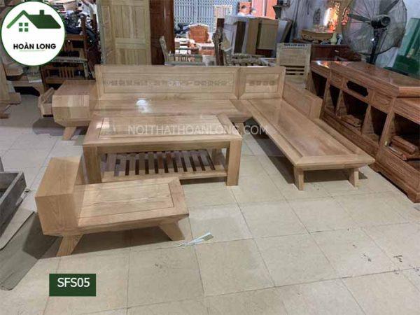 Bộ ghế sofa chân oải gỗ sồi Nga SFS05