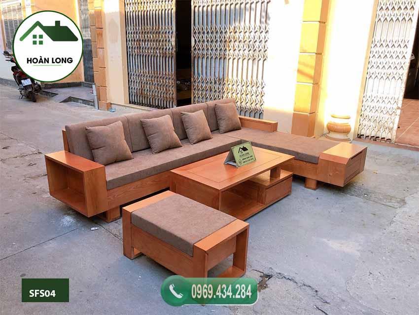 Top 7 mẫu ghế sofa gỗ góc chữ L đơn giản mà đẹp 2020
