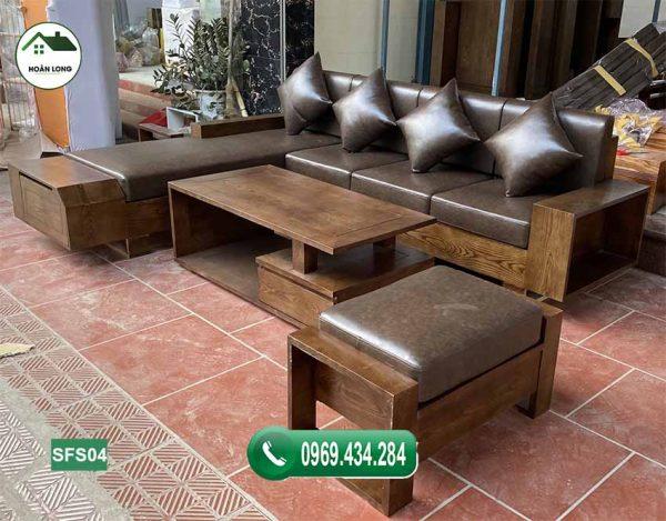 sofa ngăn kéo vát gỗ sồi Nga SFS04