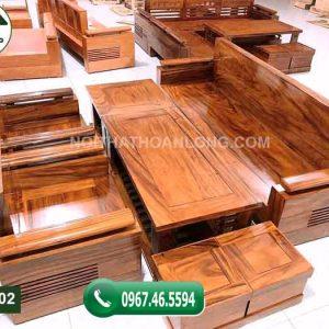 Bộ ghế đối gỗ hương xám đá Nam Phi GDH02