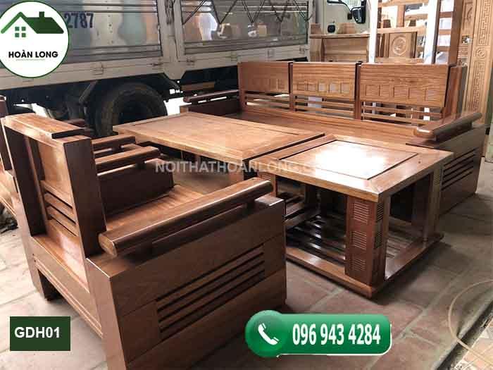 Ghế đối tay trứng gỗ hương xám GDH01