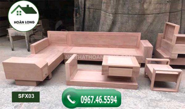 Bộ ghế sofa ngăn kéo ô tô gỗ xoan đào SFX03