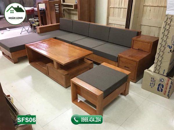 sofa góc chữ L hiện đại SFS06