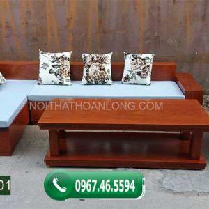 Bộ ghế sofa góc gỗ xoan đào Nam Phi SFX01