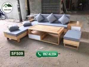 bộ bàn ghế đệm phòng khách SFS09