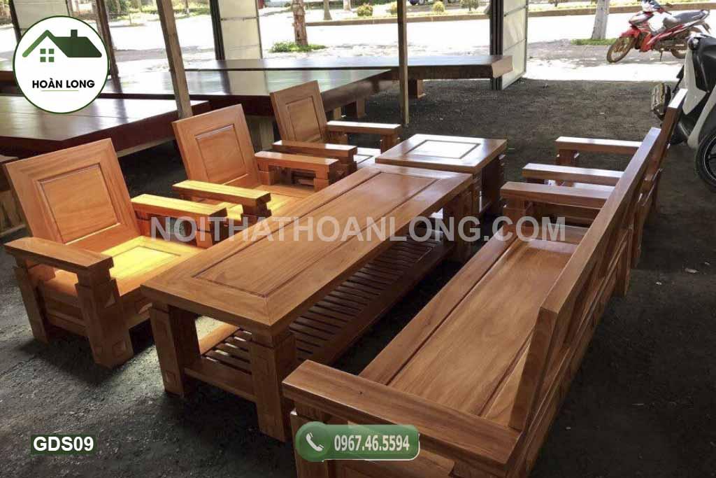 Bộ bàn ghế Nhật lùn gỗ sồi GDS09