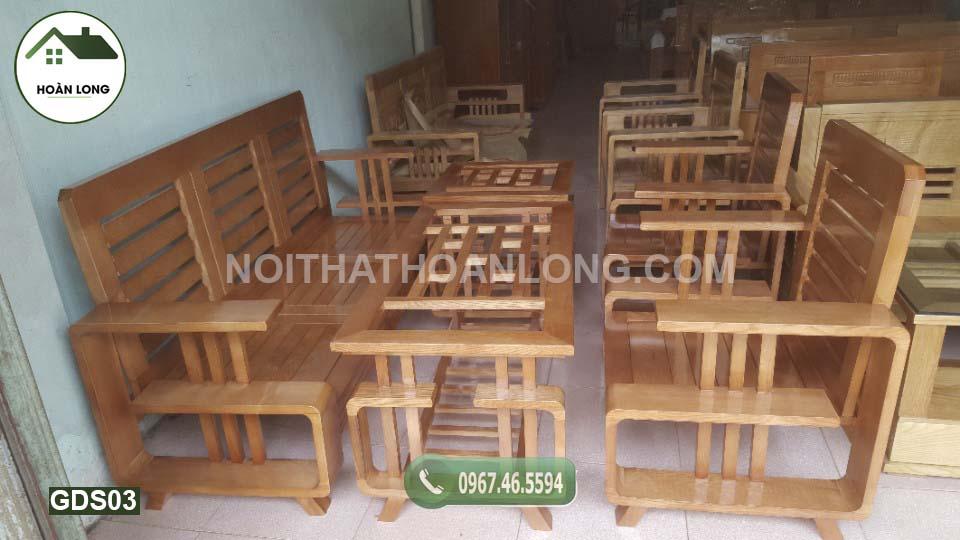 Bộ ghế đối chữ G gỗ sồi GDS03