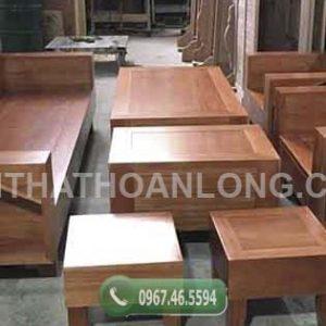 Bộ ghế đối kiểu Nhật gỗ xoan đào GDX01