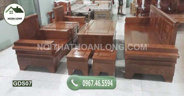 Bộ ghế đối pháo gỗ sồi GDS07