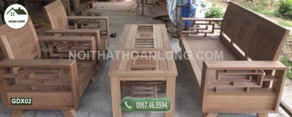 Bộ ghế tựa cong xoan đào GDX02