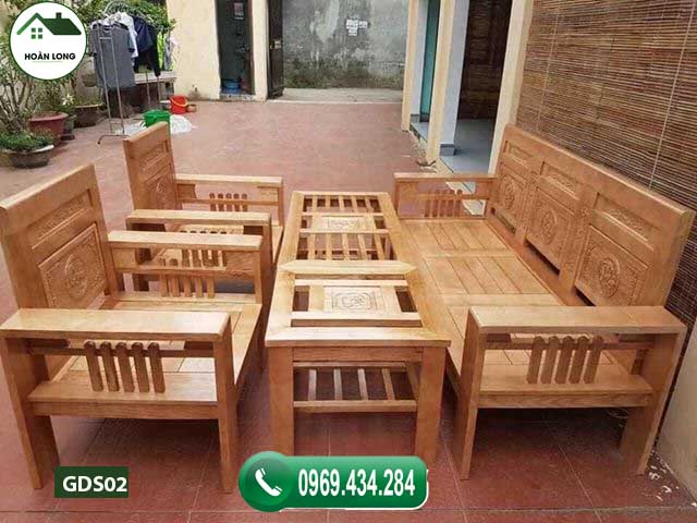 Bộ ghế Phúc Lộc Thọ gỗ sồi GDS02