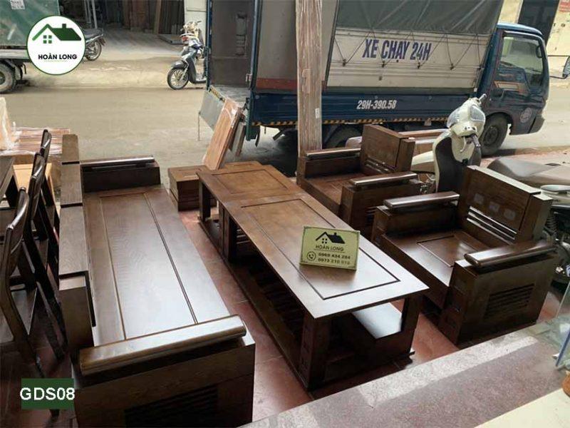 Truyền thống với 6 mẫu sofa gỗ sồi Nga 7 món cho phòng khách 2021