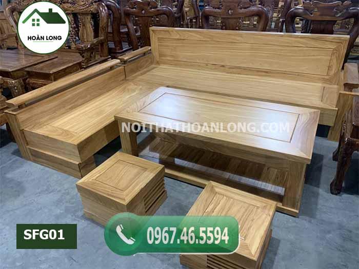 bàn ghế gỗ cho phòng khách hiện đại giá rẻ SFG01