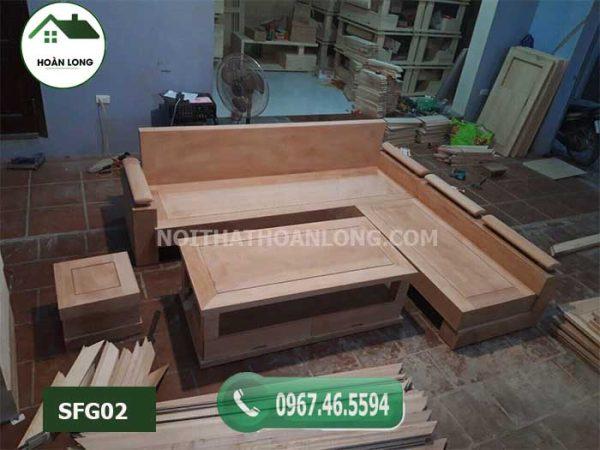 Bộ ghế sofa gỗ gõ tay trứng bộ gỗ gõ SFG02