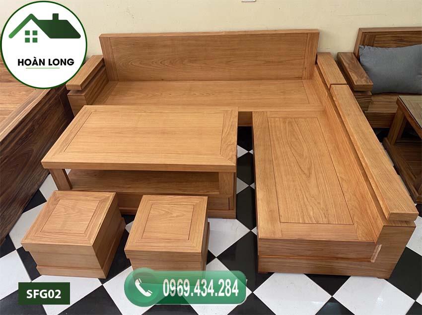 Bộ ghế sofa gỗ gõ tay trứng bộ gỗ gõ đỏ SFG02