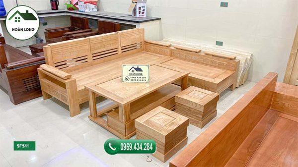 sofa góc trứng gỗ sồi Nga SFS11