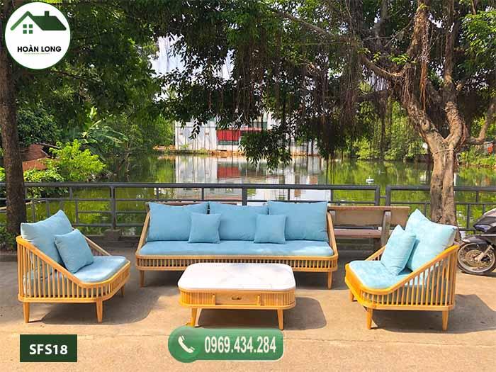 Giường gấp thành ghế sofa gỗ sồi Nga SFS18