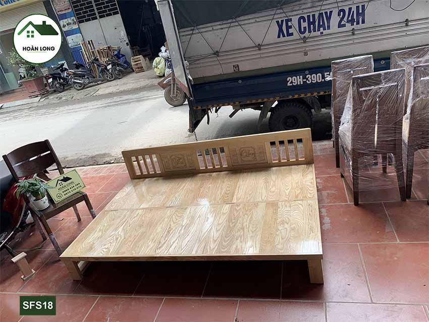 sofa giường gỗ sồi SFS18