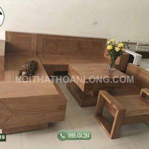 Bộ ghế sofa ngăn kéo ô tô gỗ sồi Nga SFS19