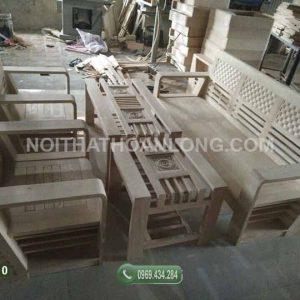 Bộ ghế đối chữ A gỗ sồi GDS10