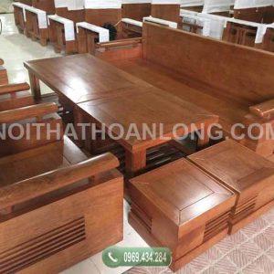 Ghế đối tay trứng tựa liền gỗ xoan đào GDX03