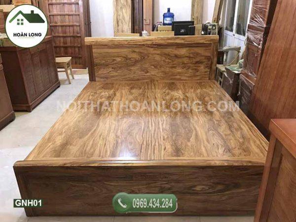 Giường ngủ gỗ hương xám GNH01