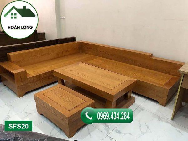 ghế sofa nguyên khối gỗ sồi Nga SFS20