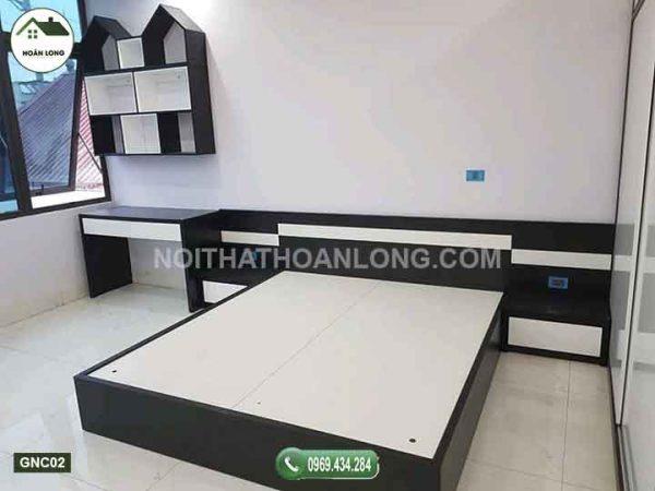 giường gỗ công nghiệp GNC02