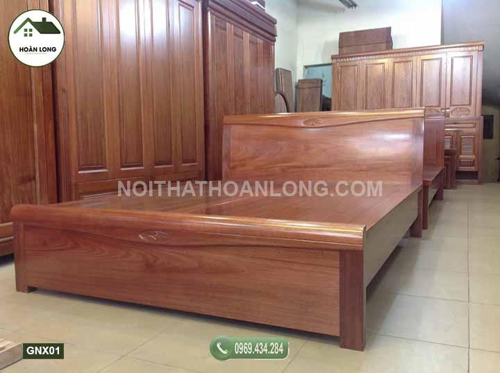 giường ngủ gỗ xoan đào GNX01