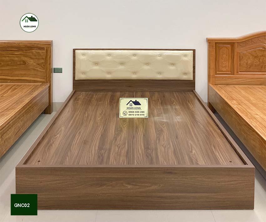 Giường ngủ 2 ngăn kéo gỗ công nghiệp GNC02
