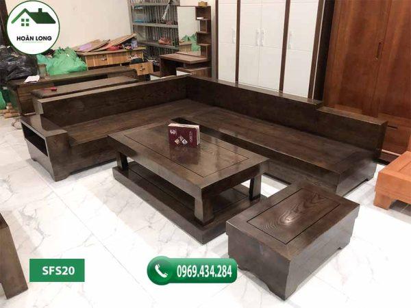 Bộ ghế sofa hộp giả nguyên khối gỗ sồi Nga SFS20