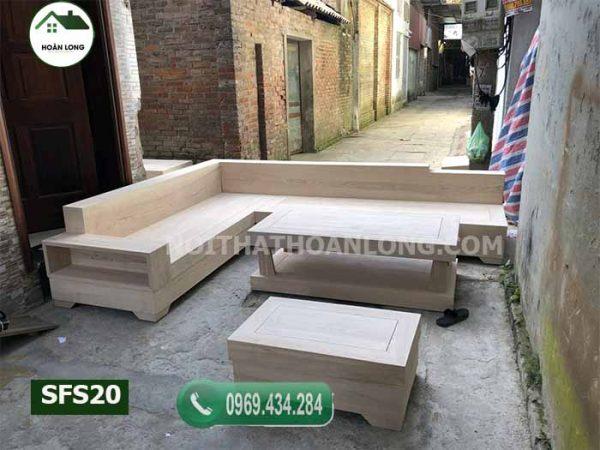 sofa giả nguyên khối gỗ sồi Nga SFS20