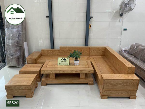 sofa góc chữ L gỗ sồi SFS20