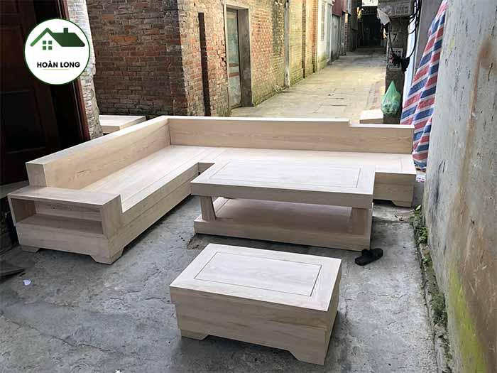 hình ảnh bộ ghế giả nguyên khối hộp gỗ sồi Nga