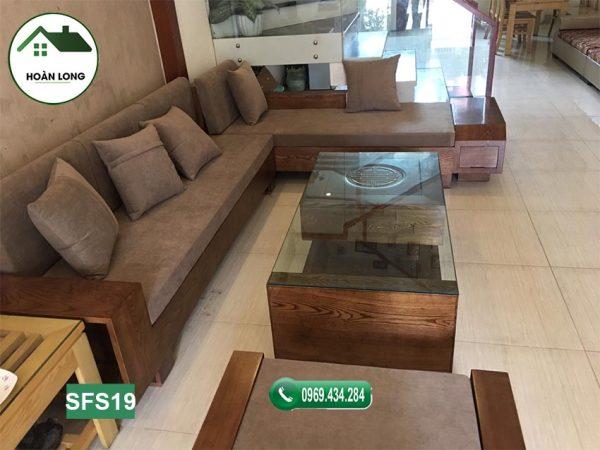 sofa ngăn kéo ô tô gỗ sồi Nga SFS19