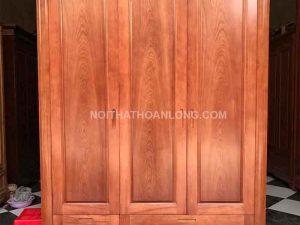 Tủ đựng quần áo 3 cánh gỗ xoan đào TGX01