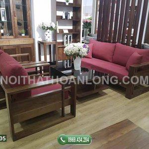 bộ ghế đối chân vuông gỗ xoan đào GDX05