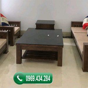 Bộ ghế đối mắt cáo gỗ sồi Nga GDS12