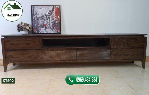 kệ tivi phòng khách hiện đại gỗ sồi Nga KTS02