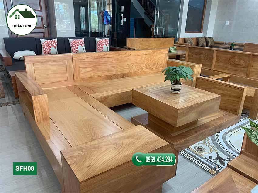 Bộ ghế sofa ngăn kéo ô tô gỗ gõ đỏ SFG08