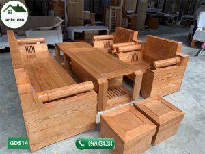 Bộ ghế đối tay tròn gỗ sồi Nga GDS14