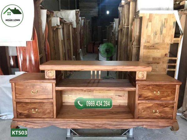 Kệ tivi 2 tầng gỗ sồi Nga KTS03