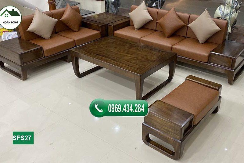 Mẹo bài trí sofa gỗ sồi Nga trong phòng khách chuẩn phong thủy 2021
