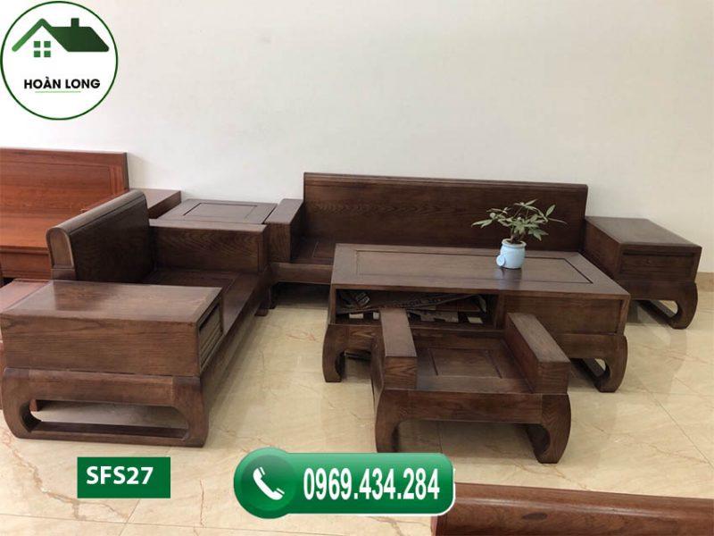 Xem ngay những mẫu ghế sofa gỗ góc chữ L phòng khách mới nhất 2020
