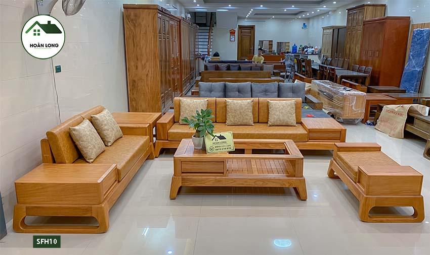 sofa gỗ gõ đỏ SFH10