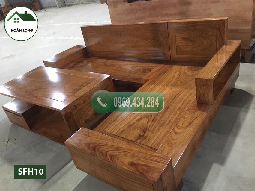 Bộ ghế sofa 2 tay gỗ hương xám SFH10