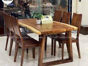 bàn ăn 6 ghế gỗ me tây BAM02