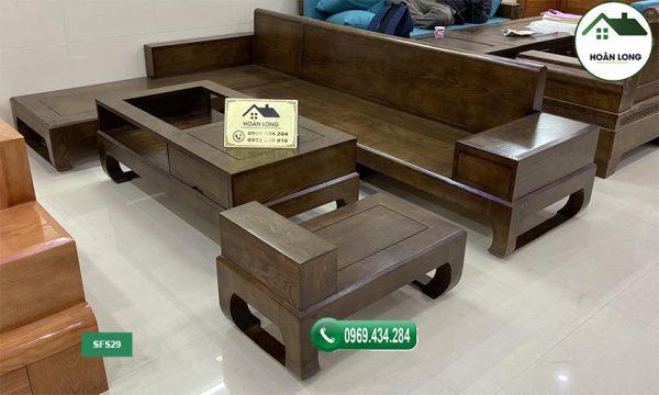 sofa chân quỳ gỗ sồi Nga SFS29